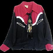 Vintage Kids Western Shirt with Original Necktie by JBard Western Wear