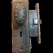 Highly Ornate Renaissance Corbin Doorknob & Lock Set