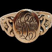 Vintage Signet Ring in 10K Rose Gold