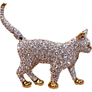 Charming 3D Standing Cat by Swarovski