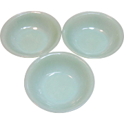 Vintage Set of Jadeite Bowls by Anchor Hocking Company Circa 1945-60's