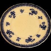 "Vintage 10"" Flow Blue Dinner Plate by Burgess & Leigh, Burslem England"