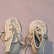 Vintage White Leather Shoes