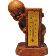 Charming Vintage Black Baby Figurine with Thermometer by Multi Products 1949
