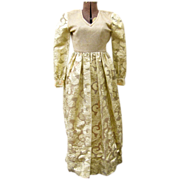 Stunning Formal Golden Lame Dress by Designer Huey Waltzer Circa 1960's-1970