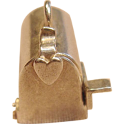 Vintage Sterling Silver 3D Residential Mailbox Charm/Pendant