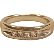 Superb Diamond Band Ring in Solid 14K White Gold