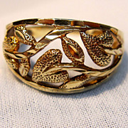 SALE PENDING Openwork Leaf Dome Ring in 10K Yellow Gold