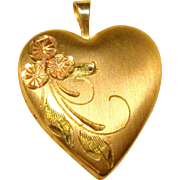 Vintage Locket Pendant in 14K Yellow Gold