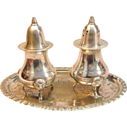 Pair of Victorian Salt & Pepper Shaker in Sterling Silver