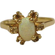 Stupendous Opal Ring in 10K Yellow Gold