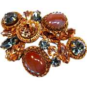 SOLD Highly collectible and quality made Saphiret brooch by Regency