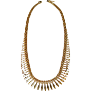 SALE PENDING Simple Elegant 14K Yellow Gold Etruscan Style Necklace
