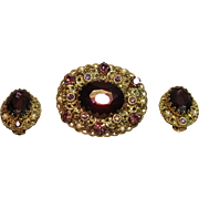 Spectacular Vintage Demi Parure By W. Germany Circa 1950's