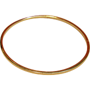 SOLD Incredible Solid Bangle Bracelet in 14K Yellow Gold