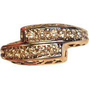 Distinctive Diamond Bypass Design Ring in 14K White Gold