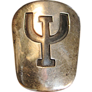Vintage IU (Indiana University) Pin/Pendant in Sterling Silver