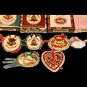 Set of 6 Longaberger Ceramic Tie On Accessories