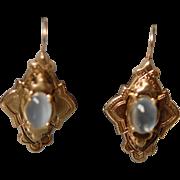 SOLD 14K Moonstone Earrings Victorian