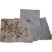 SOLD For Rebecca: Lot of 12 Vintage Fancy Lady Hankie Handkerchief New & Used V Good Cond