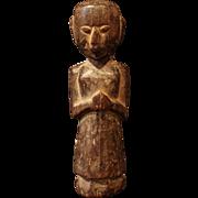 "SOLD Karnataka South Indian ""Babli"" Wooden Fertility Doll"