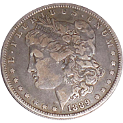 1889 Morgan Silver Dollar O New Orleans
