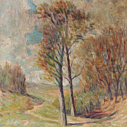 Late 19th or Early 20th Century Landscape by L.C. Hamilton