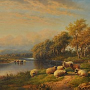 SALE Fine Oil Painting by Well Listed Artist Walter J. Watson dated 1904.