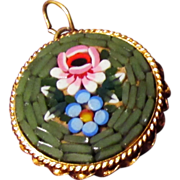 """Micro Mosaic Pendant """"Made in Italy"""""""