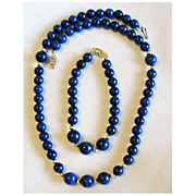 SALE NOS Lapis Necklace & Bracelet Set