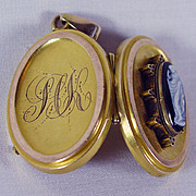 14K Yellow & Rose Gold Victorian Cameo Locket
