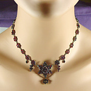 SALE Victorian Bohemian Garnet Necklace