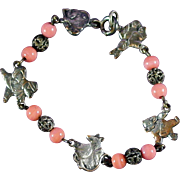 "1908-1914 Child's Character Bracelet ""The Wind and the Willows"""