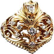 SALE The Franklin Mint & House of Faberge Present the Limited Edition Diamond Tiara Ring in ..