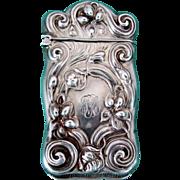 Antique Sterling Silver Match Safe / Vesta from Gilbert Company