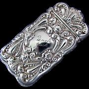 Sterling Silver Gilbert Company Match Safe / Vesta