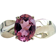 SALE 14K YG Pink Tourmaline Ring Size 9