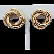 Large (5.6 Grams) 14K YG Love Knot Earrings