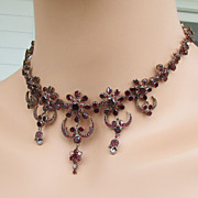 SALE RARE DESIGN! Bohemian Garnet Necklace