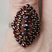 SALE Bohemian Garnet Ring Size 6 1/2