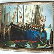 Henry J Billings   Nautical oil  Painting