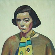 Mortimer Borne   Modernist   Portrait of  the artists wife