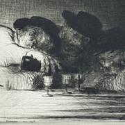 "Edmund Blampied  ""L ' Aperitif ""   1927  print"