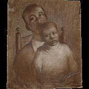 "1940s Black family portrait ""Fathers Eyes""  Beautiful"