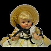 VOGUE Ginny 1953 Strung Blonde braid Doll WANDA Outfit MINTY