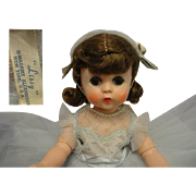 """MADAME ALEXANDER Lissy 11"""" 1950's Doll Tagged Gown"""