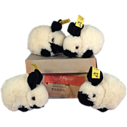 SOLD Steiff Box of Four Woolen Bunny Rabbits ~ ALL IDs! ~ DARLING!