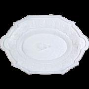 Fine 19th Century EAPG Milk Glass Platter with Hunt Motif