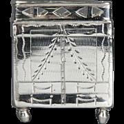 Rare 19th Century Dutch Silver Cabinet Form Snuff or Spice Box