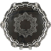 Wonderful Late 19th Century English Silverplate Salver